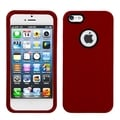 BasAcc Solid Red Phone Case with Decorative Rings for Apple iPhone 5