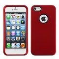 BasAcc Titanium Red Case with Decorative Rings for Apple iPhone 5