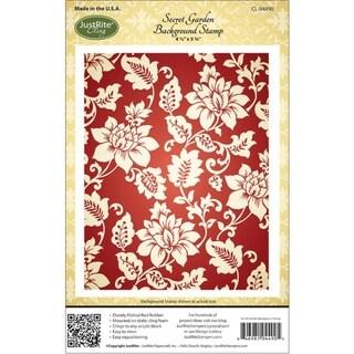 JustRite Stampers Cling Background Stamp 4-1/2x5-3/4in-Secret Garden