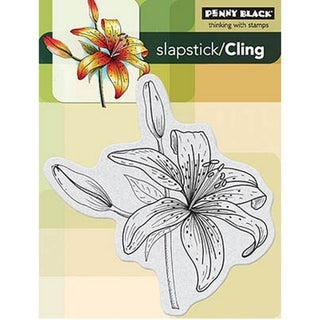 Penny Black Cling Rubber Stamp 4X6in-Tiger-Lilly