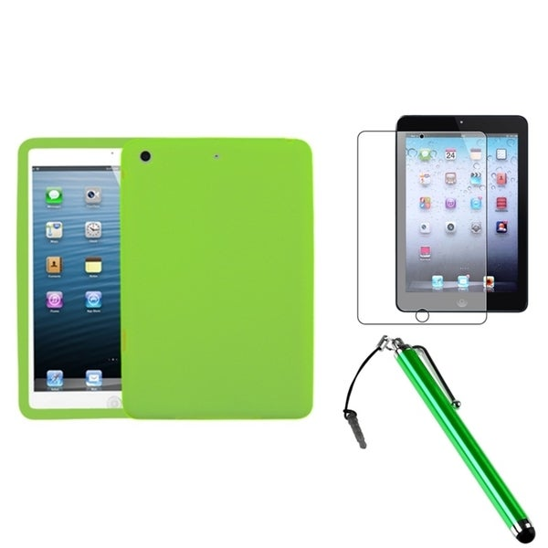 INSTEN Green Tablet Case Cover/ Stylus/ Screen Protector for Apple iPad Mini