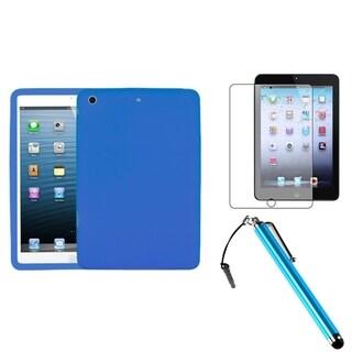 BasAcc Dark Blue Case/ Stylus/ Screen Protector for Apple iPad Mini