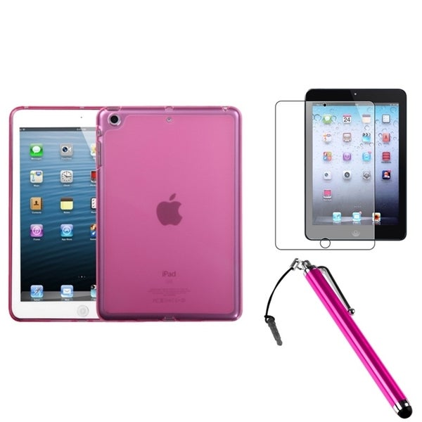 INSTEN Hot Pink Tablet Case Cover/ Stylus/ Screen Protector for Apple iPad Mini