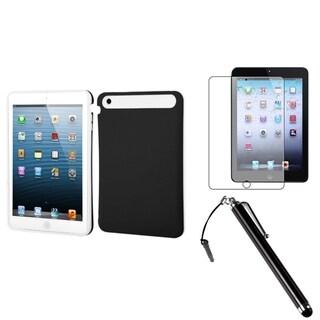 BasAcc Black/ White Case/ Stylus/ Screen Protector for Apple iPad Mini