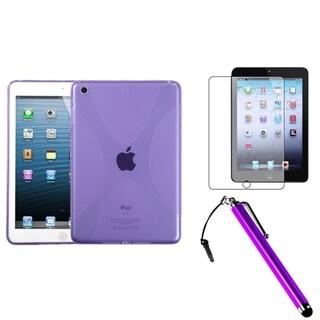 BasAcc Purple Case/ Stylus/ Screen Protector for Apple iPad Mini