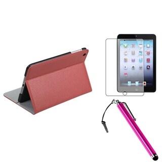 BasAcc Pink Case/ Stylus/ Screen Protector for Apple iPad Mini