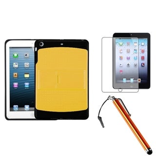 BasAcc Yellow/ Black Case/ Stylus/ LCD Protector for Apple iPad Mini