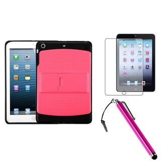 BasAcc Pink/ Black Case/ Stylus/ LCD Protector for Apple iPad Mini