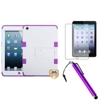 BasAcc White/ Purple Case/ Stylus/ LCD Protector for Apple iPad Mini