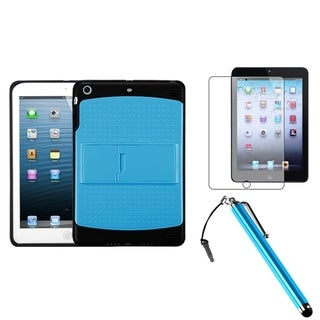 BasAcc Blue/ Black Case/ Stylus/ LCD Protector for Apple iPad Mini