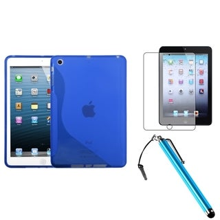 INSTEN Dark Blue Tablet Case Cover/ Stylus/ LCD Protector for Apple iPad Mini