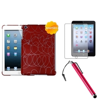 BasAcc Red Case/ Stylus/ LCD Protector for Apple iPad Mini