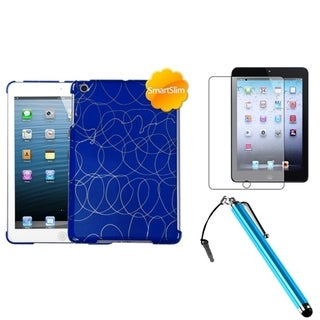 BasAcc Dark Blue Case/ Stylus/ LCD Protector for Apple iPad Mini