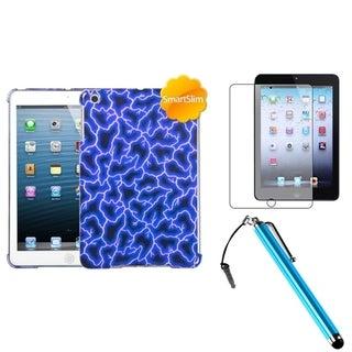 BasAcc Blue Lightning Case/ Stylus/ LCD Protector for Apple iPad Mini