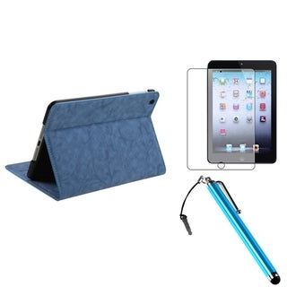 BasAcc Baby Blue Case/ Stylus/ LCD Protector for Apple iPad Mini