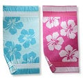Hawaiian Flower Oversized Cotton Jacquard Beach Towels (Set of 2)