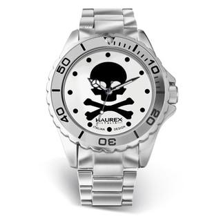 Women's Haurex Italy 'Ink' Aluminum Skull Dial Watch