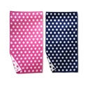 Superior Collection Luxurious Oversized Cotton Jacquard Beach Towels- Fun Dots ( Set of 2)