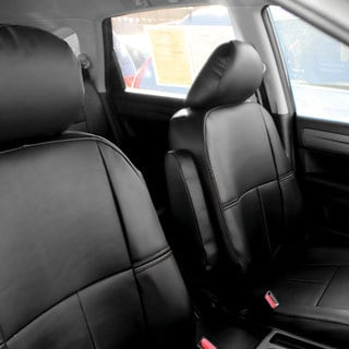 FH Group Custom Fit Black Leather 2010-2011 Honda CR-V Seat Covers (Full Set)