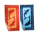 Superior Collection Luxurious Oversized Cotton Jacquard Beach Towels- Dolphins ( Set of 2)