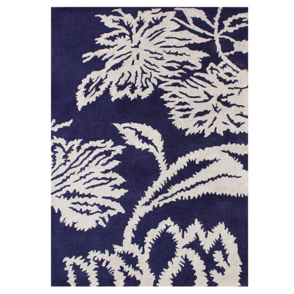 Alliyah Handmade Orient Blue New Zealand Blend Wool Rug (8' x 10')
