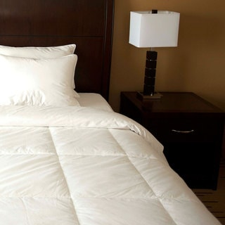 Dorm Ready Twin XL White Goose Down Comforter/ Insert
