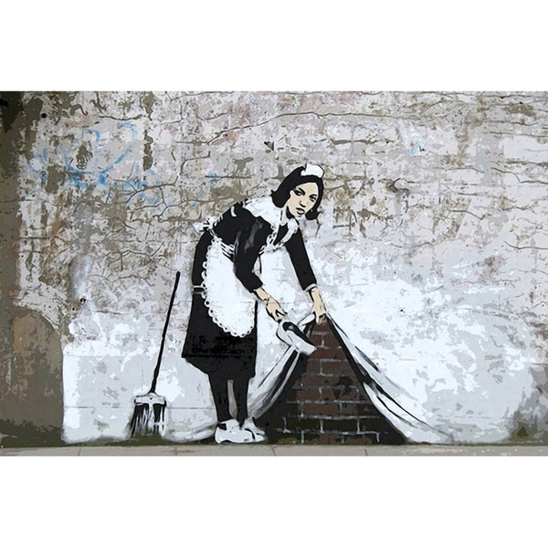 Banksy 'Maid in London' Canvas Print Wall Art