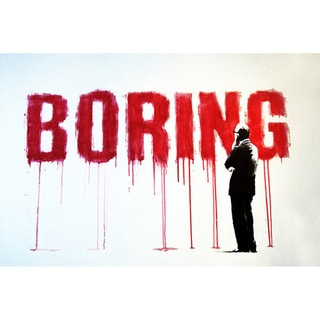 Banksy 'Boring' Canvas Print Wall Art