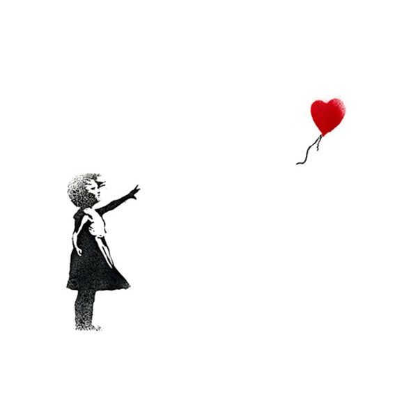 Banksy 'Girl with Balloon' Canvas Print Wall Art