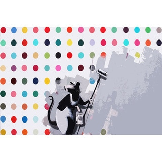 Banksy 'Rat Spots Damien Hirst' Canvas Print Wall Art