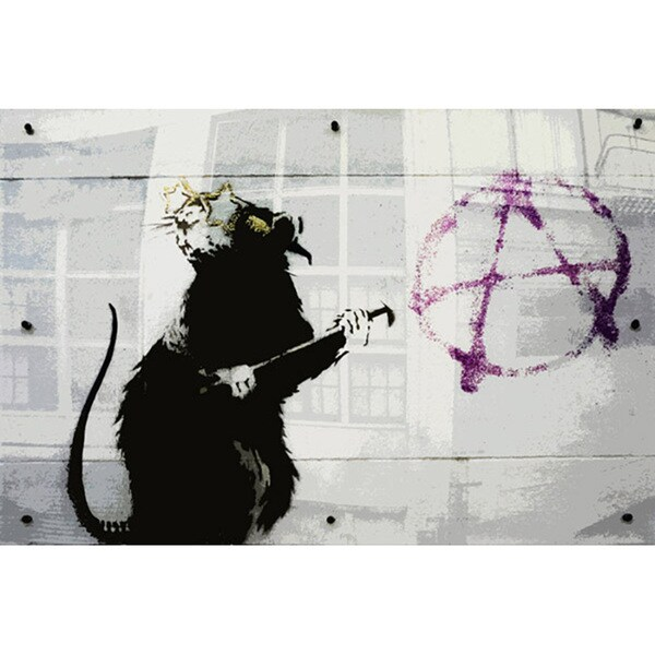 iCanvas Banksy 'Anarchy Rat' Canvas Print Wall Art 11394749