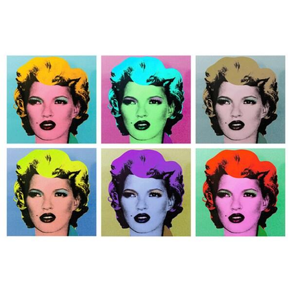 Banksy 'Kate Moss Warhol Style' Canvas Print Wall Art