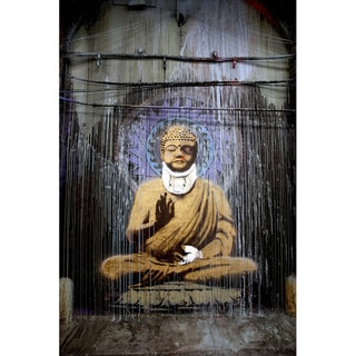 Banksy 'Injured Buddha Beaten Up' Canvas Print Wall Art