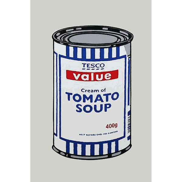 Banksy 'Tesco Tomato Soup Can' Canvas Print Wall Art