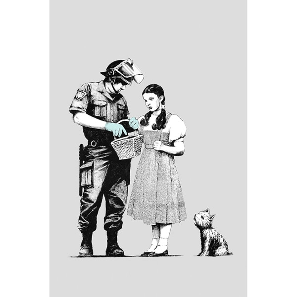 Banksy 'Dorothy Police Search' Canvas Print Wall Art