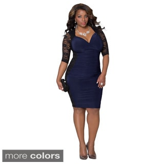 Women's Plus Size Valentina Illusion Passionate Purple Dress
