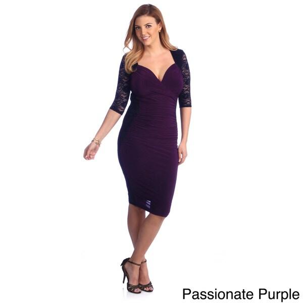 Plus Size Purple Dressy Tops 5