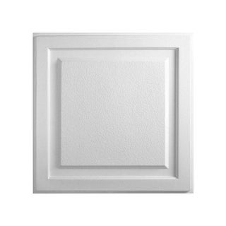 Element White Ceiling Tile (Pack of 10)