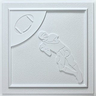 uDecor Football White 24-inch Ceiling Tiles (Pack of 10)