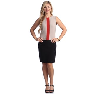 London Times Women's Color Block Sheath Dress