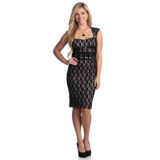 London Times Women's Sweetheart Lace Dress