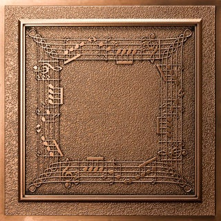 uDecor Musical Notes Antique Bronze 24-inch Ceiling Tiles (Pack of 10)