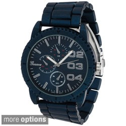 Geneva Platinum Men's Chronograph-style Metal Link Watch