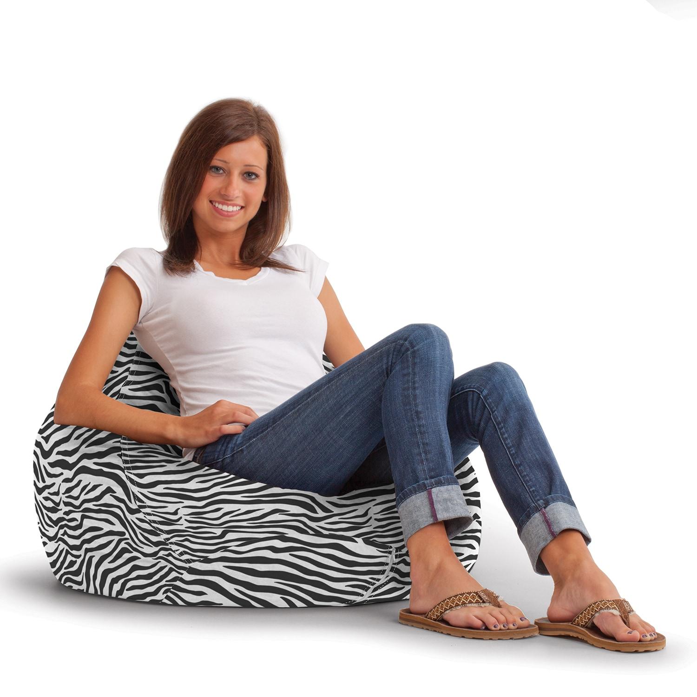 Overstock.com BeanSack Ultra Lounge Zebra Print Bean Bag Chair at Sears.com