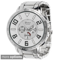 Geneva Platinum Men's Round Face Link Watch