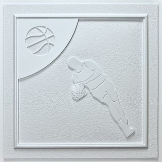 uDecor Basketball White 24-inch Ceiling Tiles (Pack of 10)