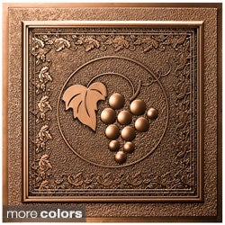 uDecor Grape Vines 24-inch Ceiling Tiles (Pack of 10)