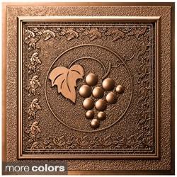 uDecor Grape Vines 24-inch Ceiling Tiles (Pack of 10)