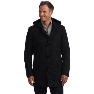 Izod Men's Hooded Toggle Wool Jacket
