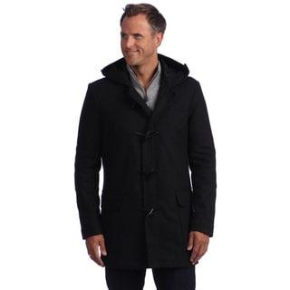 Izod Men's Hooded Toggle Wool Jacket